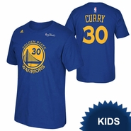 Golden State Warriors adidas Kids NBA Finals Stephen Curry #30 Replica Tee - Royal