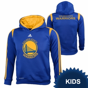 Golden State Warriors adidas Kids On-Court Hoody - Royal - Click to enlarge