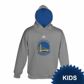 Golden State Warriors adidas Kids Primary Logo Pullover Hoody - Grey - Click to enlarge