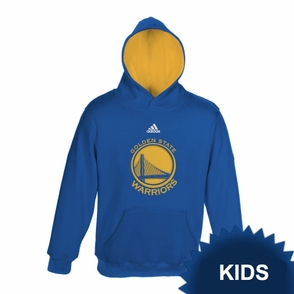 Golden State Warriors adidas Kids Primary Logo Pullover Hoody - Royal - Click to enlarge