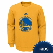 Golden State Warriors adidas Kids �Prime� Pullover Fleece Crew � Gold