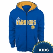 Golden State Warriors adidas Kids �Stated� Full Zip Fleece Hoodie � Royal