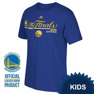 "Golden State Warriors adidas Kids ""The Finals"" Authentic Edition Locker Room Tee - Royal"