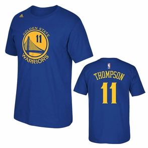 Golden State Warriors adidas Klay Thompson #11 Gametime Player Tee - Royal - Click to enlarge