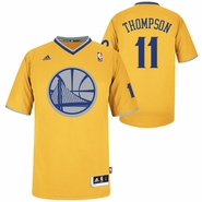 Golden State Warriors adidas Klay Thompson 2013 Big Logo Christmas Day Swingman Jersey - Gold