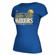 Golden State Warriors adidas Ladies Playoff Stripes Tee - Will Ship 3/31