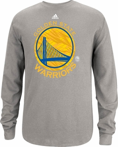 Golden State Warriors Adidas Long Sleeve Primary Logo Thermal-Grey - Click to enlarge