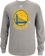 Golden State Warriors Adidas Long Sleeve Primary Logo Thermal-Grey