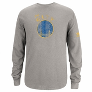"Golden State Warriors Adidas Long Sleeve ""The City"" Logo Thermal-Grey"