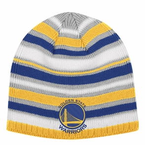 Golden State Warriors adidas Multi Color Striped Knit Skully Hat - Click to enlarge