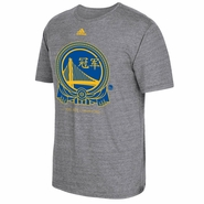Golden State Warriors adidas NBA Champs Chinese Badge Tee - Grey - Will Ship 7/8