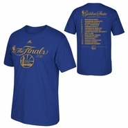 Golden State Warriors adidas NBA Finals In The Spotlight Roster Tee - Royal
