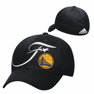 Golden State Warriors adidas NBA Finals Structured Flex Fit Cap - Black