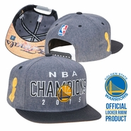Golden State Warriors adidas NBA Locker Room Champs Snapback Hat - Grey