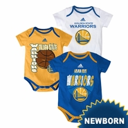 Golden State Warriors adidas Newborn �3 Point Spread� Body Suit � Royal