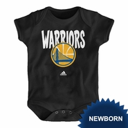 Golden State Warriors adidas Newborn �Front Whirlwind� Short Sleeve Creeper - Black