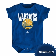 Golden State Warriors adidas Newborn �Front Whirlwind� Short Sleeve Creeper - Royal