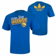 Golden State Warriors adidas Off Kilter Tee - Royal