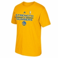 Golden State Warriors adidas On-Court Playoff Tee - Gold - Will Ship 4/27