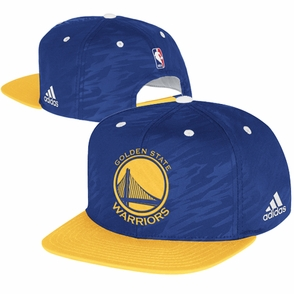 Golden State Warriors adidas On-Court Snapback Cap - Royal/Gold - Click to enlarge