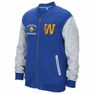 Golden State Warriors adidas Originals Letterman Full-Zip Fleece Jacket - Royal