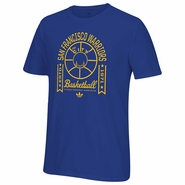 Golden State Warriors adidas Originals �Top Banner� Short Sleeve Go-To Tee � Royal