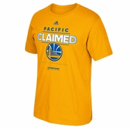 Golden State Warriors adidas Pacific Division Champions Tee - Gold