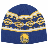 Golden State Warriors adidas Pattern Knit Skully Hat - Royal