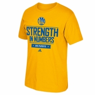 Golden State Warriors adidas Playoff Giveaway Tee - Gold - Will Ship 4/27