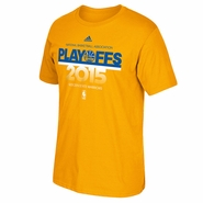 Golden State Warriors adidas Playoff Statement Tee - Gold - Will Ship 3/31