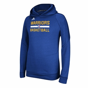 Golden State Warriors Adidas Practice Hoodie-Royal - Click to enlarge