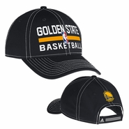 Golden State Warriors adidas Practice Logo Adjustable Cap - Black