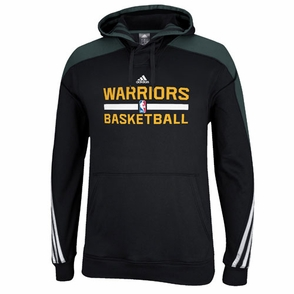 Golden State Warriors adidas Practice Pullover Hoody - Black - Click to enlarge