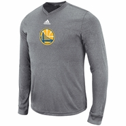 Golden State Warriors adidas Pre-Game Long Sleeve Shooter Tee - Grey
