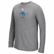 Golden State Warriors adidas Pre-Game Partial Logo Ultimate Long Sleeve Tee � Grey