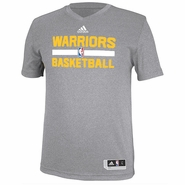 Golden State Warriors adidas Pre-Game Short Sleeve Shooter Tee - Grey