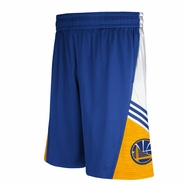 Golden State Warriors adidas Pre-Game Shorts - Royal/Gold