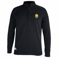 Golden State Warriors adidas Primary Logo 3-Stripes Piped � Zip Pullover � Black