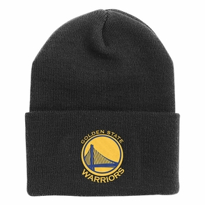 Golden State Warriors Adidas Primary Logo Cuffed Knit - Black - Click to enlarge