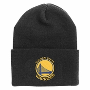 Golden State Warriors adidas Primary Logo Cuffed Knit � Black/Gold