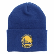Golden State Warriors Adidas Primary Logo Cuffed Knit - Royal