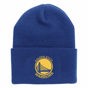 Golden State Warriors Adidas Primary Logo Cuffed Knit - Royal - Click to enlarge