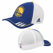Golden State Warriors adidas Primary Logo Mesh 2-Tone Flex Cap - Royal/White