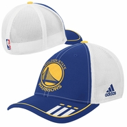 Golden State Warriors adidas Primary Logo 2-Tone Mesh Flex Cap - Royal/White