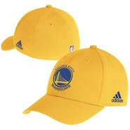 Golden State Warriors adidas Primary Logo Structured Flex Cap - Gold