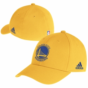 Golden State Warriors adidas Primary Logo Structured Flex Cap - Gold - Click to enlarge