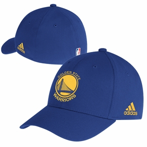 Golden State Warriors adidas Primary Logo Structured Flex Cap - Royal - Click to enlarge