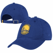 Golden State Warriors adidas Primary Logo Washed Slouch Cap - Royal