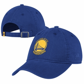 Golden State Warriors adidas Primary Logo Washed Slouch Cap - Royal - Click to enlarge