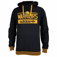 Golden State Warriors adidas Pullover Hoodie - Black